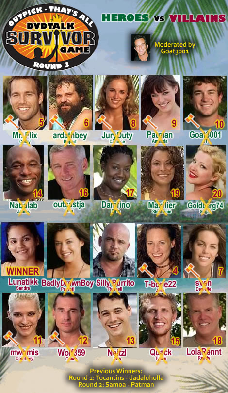 tvs survivor heroes and villains essay Amazoncom: survivor 20: heroes and villains (5 discs): sandra diaz-twine,  parvati  jessica sugar kiper, boston rob, jeff probst, mark burnett: movies &  tv.